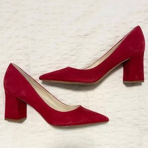 Marc Fisher Red Suede Pumps